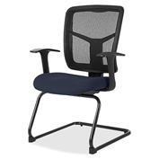 Lorell® 86000 Series Mesh Side Arm Guest Chair - Periwinkle Blue