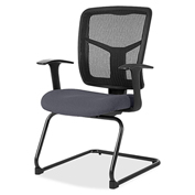 Lorell® 86000 Series Mesh Side Arm Guest Chair - Chambray