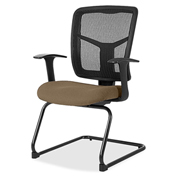 Lorell® 86000 Series Mesh Side Arm Guest Chair - Roulette
