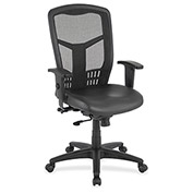 Lorell® Executive High-Back Mesh Chair - Black