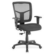 Lorell® Managerial Mesh Mid-Back Chair - Black