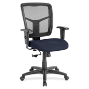 Lorell® Managerial Mesh Mid-Back Chair - Navy
