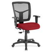 Lorell® Managerial Mesh Mid-Back Chair - Red