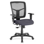 Lorell® Managerial Mesh Mid-Back Chair - Chambray