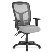 Lorell® Ergomesh Seating Executive Mesh High-Back Chair - Gray