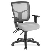 Lorell® Swivel Mid-Back Mesh Chair - Gray