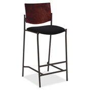 Lorell® Cafe Barstool - Black with Mahogany Back