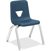 "Lorell® 12"" Stacking Student Chair - Navy - 4/Pack"
