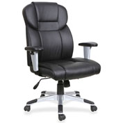 Lorell® High-Back Leather Executive Chair - Black