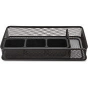 Lorell® Mesh Desk Drawer Organizer, 5 Compartment, Black