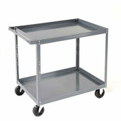 "Nexel-2 Shelf Steel Stock Cart 36""L x 24""W x 36""H 600 Lb. Capacity"