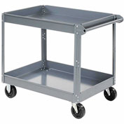 "Nexel-2 Shelf Deep Tray Steel Stock Cart 30""L x 16""W x 32""H 600 Lb. Capacity"
