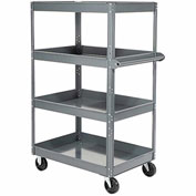 "Nexel-Multi-Level Steel Shelf Truck with 4 Shelves 36""L x 24""W x 60""H 600 Lb. Capacity"