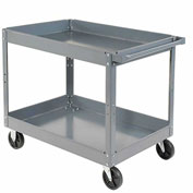 "Nexel-2 Shelf Deep Tray Steel Stock Cart 36""L x 24""W x 32""H 300 Lb. Capacity"