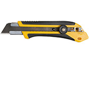 OLFA® 1071858 Fiberglass Rubber Grip Ratchet-Lock Utility Knife - Black/Yellow