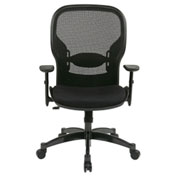 Office Star Space 2300 Matrex Managerial Mid-Back Mesh Chair - Black