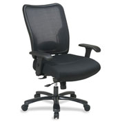 Office Star Space Mid-Back Mesh Task Chair - Black