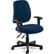 Posture Task Chair With Arms - Navy