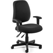 OFM Posture Task Chair with Arms - Fabric - Mid Back -Black