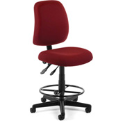 OFM Posture Task Chair With Drafting Kit (Footstool) - Wine