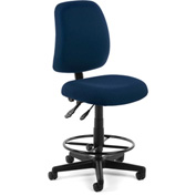 OFM Posture Task Chair With Drafting Kit (Footstool) - Navy