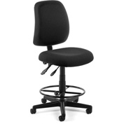 OFM Posture Task Chair With Drafting Kit (Footstool) - Black