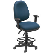 OFM Executive Task Chair With Drafting Kit (Footstool) - 6 Function - Navy