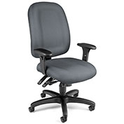 OFM Ergonomic Task Chair with Arms - Fabric - Mid Back - Gray