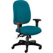 OFM Ergonomic Task Chair with Arms - Fabric - Mid Back - Teal