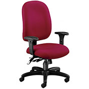 OFM Ergonomic Task Chair with Arms  - Fabric - Mid Back - Wine