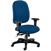 OFM Ergonomic Task Chair with Arms - Fabric - Mid Back - Navy