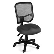 OFM Mesh Back Task Chair - Fabric - Mid Back - Gray