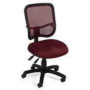 Ergonomic Mesh Task Chair - Wine