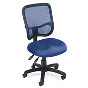 OFM Mesh Back Task Chair - Fabric - Mid Back - Navy