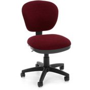 OFM Computer Chair - Fabric - Mid Back - Burgundy