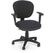 OFM Computer Chair with Arms - Fabric - Mid Back - Gray