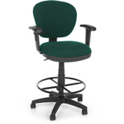 OFM Computer Chair with Arms and Drafting Kit (Footstool) - Teal