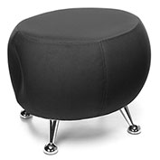 OFM Jupiter Fabric Ball Stool  - Black with Chrome Feet