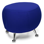 OFM Jupiter Fabric Ball Stool  - Blue with Chrome Feet