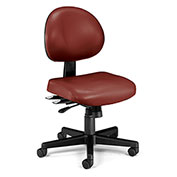 OFM Antimicrobial 24 Hour Task Chair - Vinyl - Mid Back - Wine