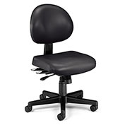 OFM Antimicrobial 24 Hour Task Chair - Vinyl - Mid Back - Black