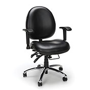OFM Big and Tall Antimicrobial 24 Hour Task Chair with Arms - Vinyl - High Back - Black