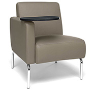 OFM Lounge Chair Sectional with Right Arm and Tungsten Table - Vinyl - Taupe - Triumph Series