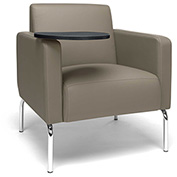 OFM Lounge Chair with Tungsten Tablet - Vinyl - Taupe - Triumph Series