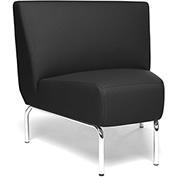 OFM Triumph Series 45 Degree Angle Lounge Chair in Black Vinyl