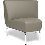 OFM Triumph Series 45 Degree Angle Lounge Chair in Taupe Vinyl