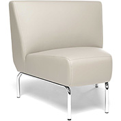 OFM Triumph Series 45 Degree Angle Lounge Chair in Cream Vinyl