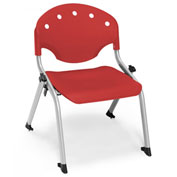 "Rico Student Stack Chair - 18""W X 17""D X 22-1/2""H Red - Pkg Qty 4"