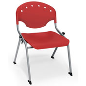 "Rico Student Stack Chair - 22""W X 21""D X 20""H Red - Pkg Qty 4"