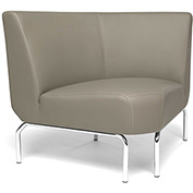 OFM Triumph Series 90 Degree Angle Lounge Chair in Taupe Vinyl